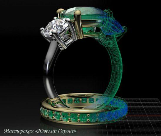 3D моделирование ювелирных изделий.