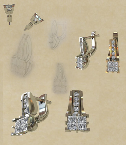 3D моделирование серёжек