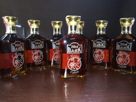 Лазерная гравировка на бутылках любого производства